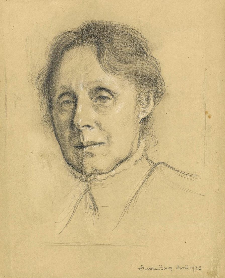 Abb. 1: Selbstporträt, gez. Gretchen Goetz, April 1923, Goe 523