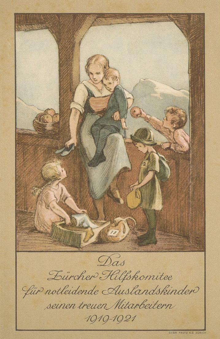 Abb. 4: Margarete Goetz, Das Zürcher Hilfskomitee für notleidende Auslandskinder seinen treuen Mitarbeitern 1919-1921, Goe 12