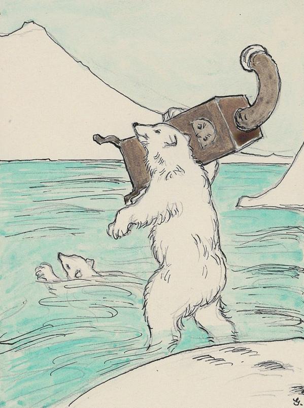 Abb. 8: Margarete Goetz, Illustration zu «Der Ofen in Lappland», ohne Datum, Goe 546_3