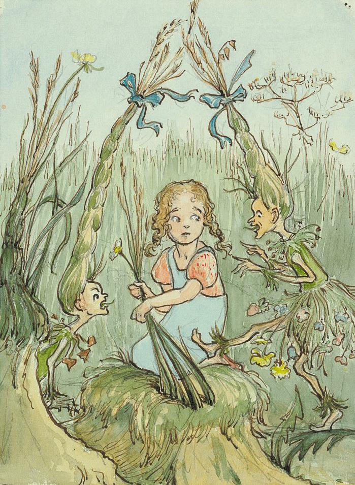 Abb. 9: Margarete Goetz, Illustration aus «Heubuutz und Sichelbock», ohne Datum, Goe 310_2