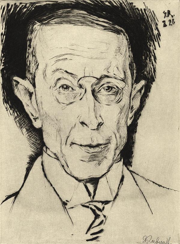 Prof. Manuel Saitzew; Porträt von Gregor Rabinovitch