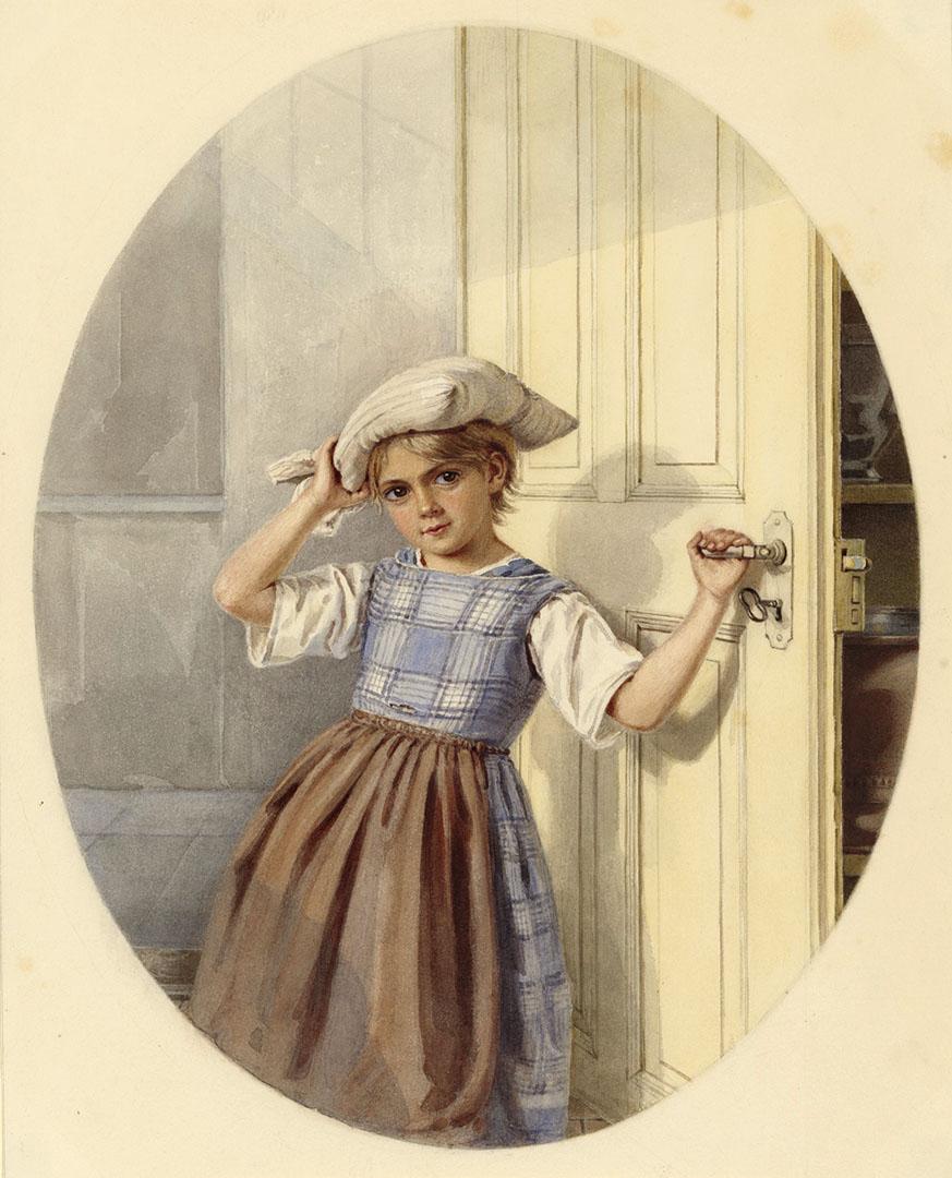 Clementine Stockar-Escher (1816–1886), «Wänder Sand?», 1851, Aquarell