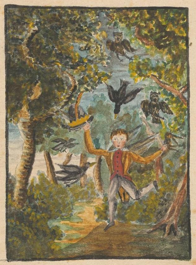 Gottfried Keller: Zeichnung aus der Kinderzeit, um 1832