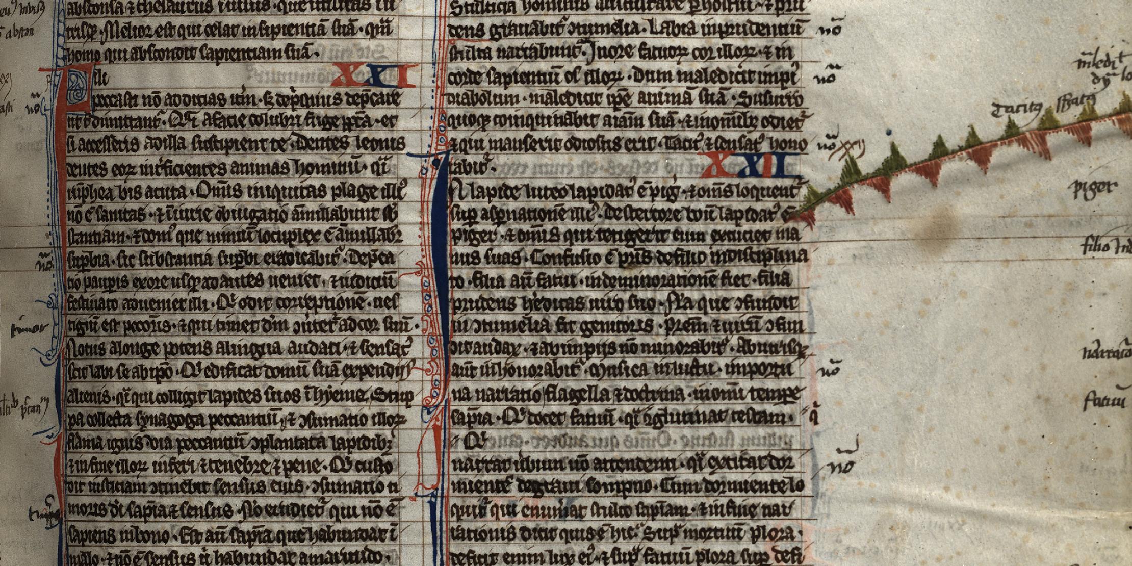 Überschrieben, vernäht, beklebt und geküsst – Was mittelalterliche Handschriften über ihre Besitzer verraten