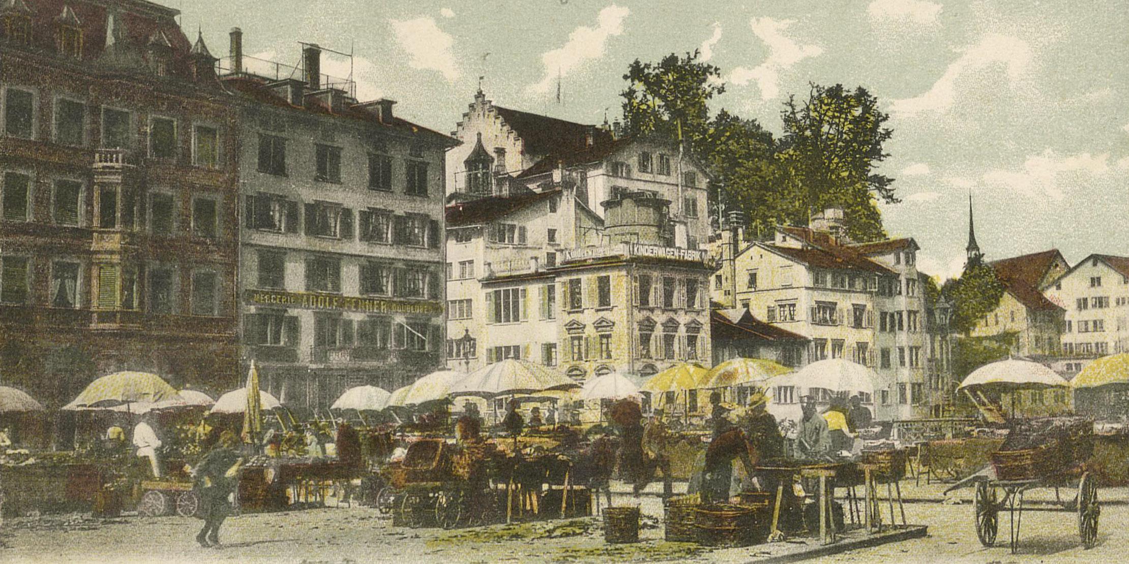 Kramladen, Kurzwaren und Kaffeehaus - Geschäftstreiben im Zürich des 19. und frühen 20. Jh.