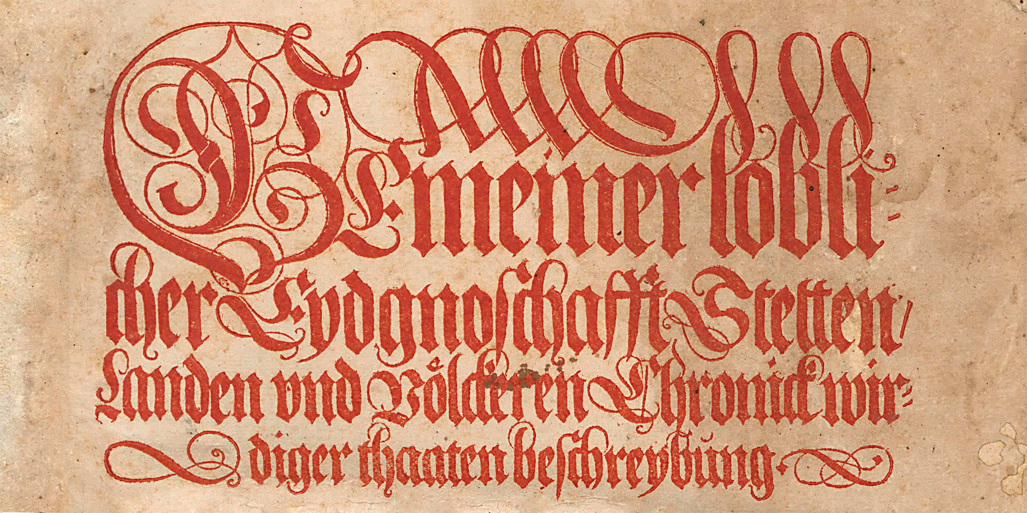Verschoben: Die Chronik von Johannes Stumpf