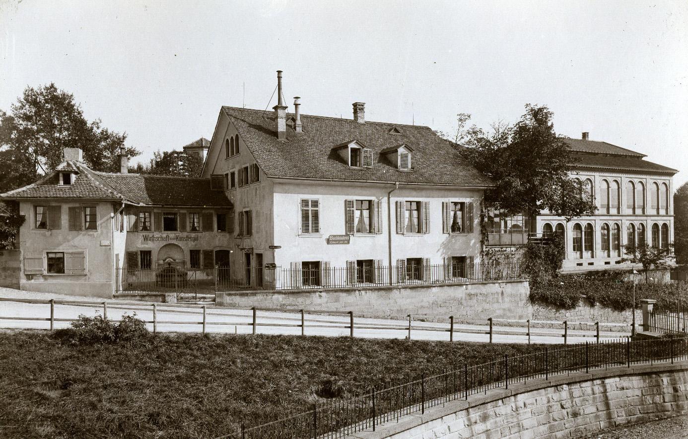 Das «Künstlergütli» mit dem Sammlungsgebäude der Kunstgesellschaft (Bild: BAZ)