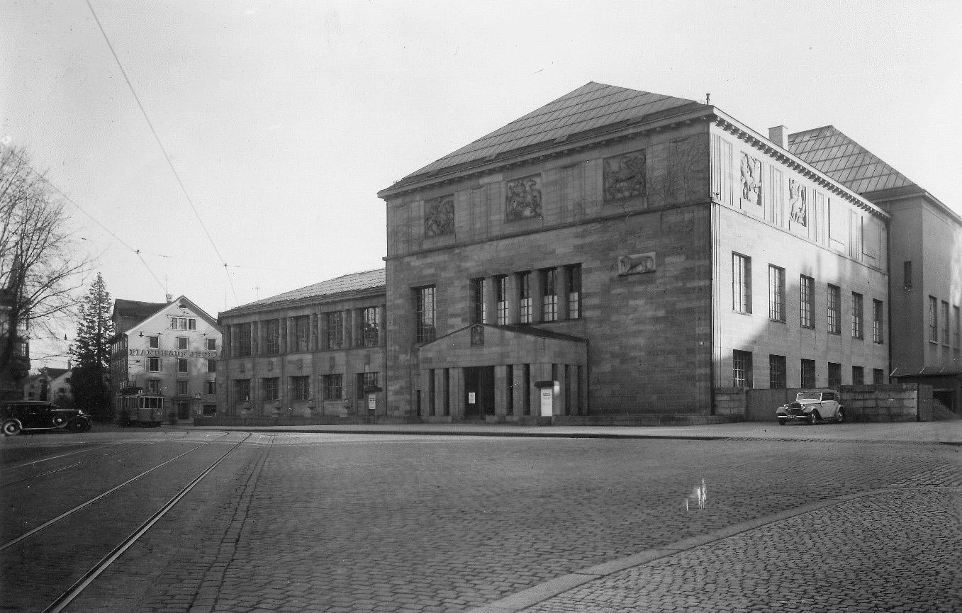 Karl Mosers Kunsthaus (1910) mit der rechts hinten sichtbaren Erweiterung von 1925 (Bild: BAZ)