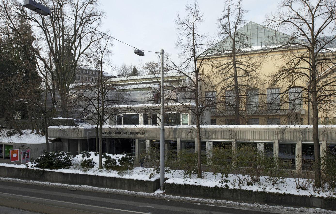 Die 1976 fertiggestellte Erweiterung, hier von der Rämistrasse aus gesehen (Bild: BAZ)