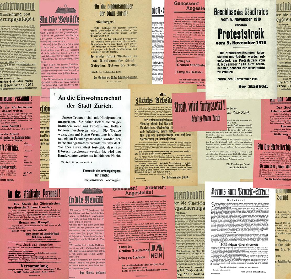 Collage mit Plakaten