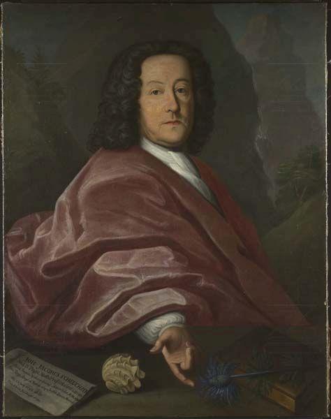 Hans Ulrich Heidegger, Porträtgemälde des Naturforschers Johann Jakob Scheuchzer, 1734. Signatur: Inv 39