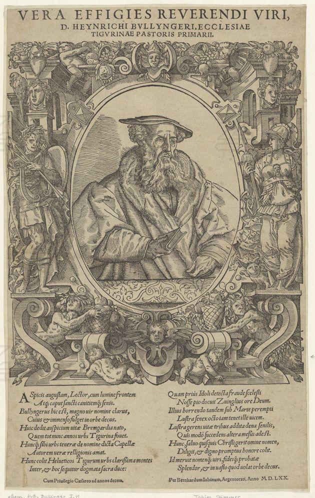 Tobias Stimmer, Das Altersporträt von Heinrich Bulliger, 1570. Signatur: PAS II, 25/16