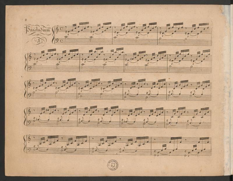 Das wohltemperierte Klavier von Johann Sebastian Bach, Frühdruck von Hans Georg Nägeli, 1801.