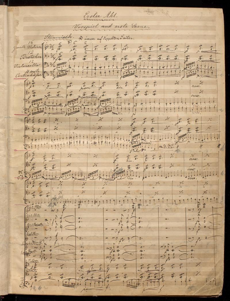 Stichvorlage der Walküre von Richard Wagner, ca. 1870-1880.