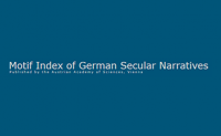 Motif-Index of German Secular Narratives from the Beginning to 1400